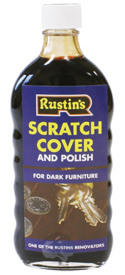 Мастика полирующая тёмная, Rustins Scratch cover and polish for dark..., 250мл