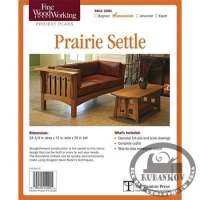 План дивана Fine Woodworking Prairie Settle Plan
