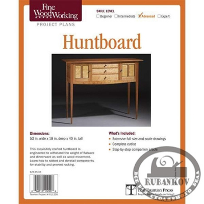 План столика Fine Woodworking Huntboard Plan
