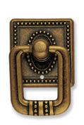 Ручка-кольцо, *Art Nouveau* 33х51мм, латунь Флоренсе., квадр. накл., винт, 12326Z03500.09
