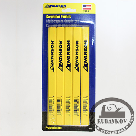 Карандаши Swanson Carpenter Pensils, 5 штук