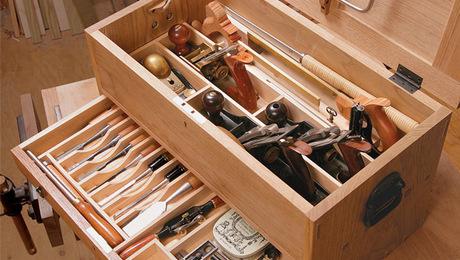 Организация места внутри ящика
