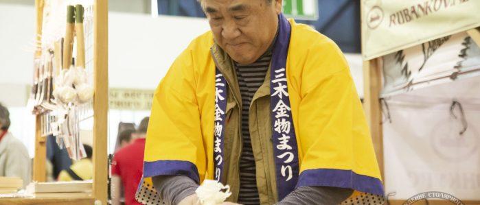 Йошихико Окада демонстрирует японские инструменты (ФСД19, Москва)