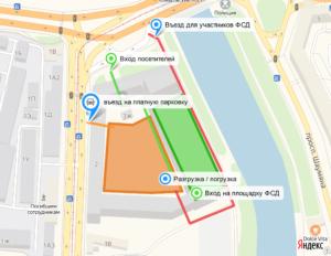 Схема прохода и проезда на ФСД19 в СПб