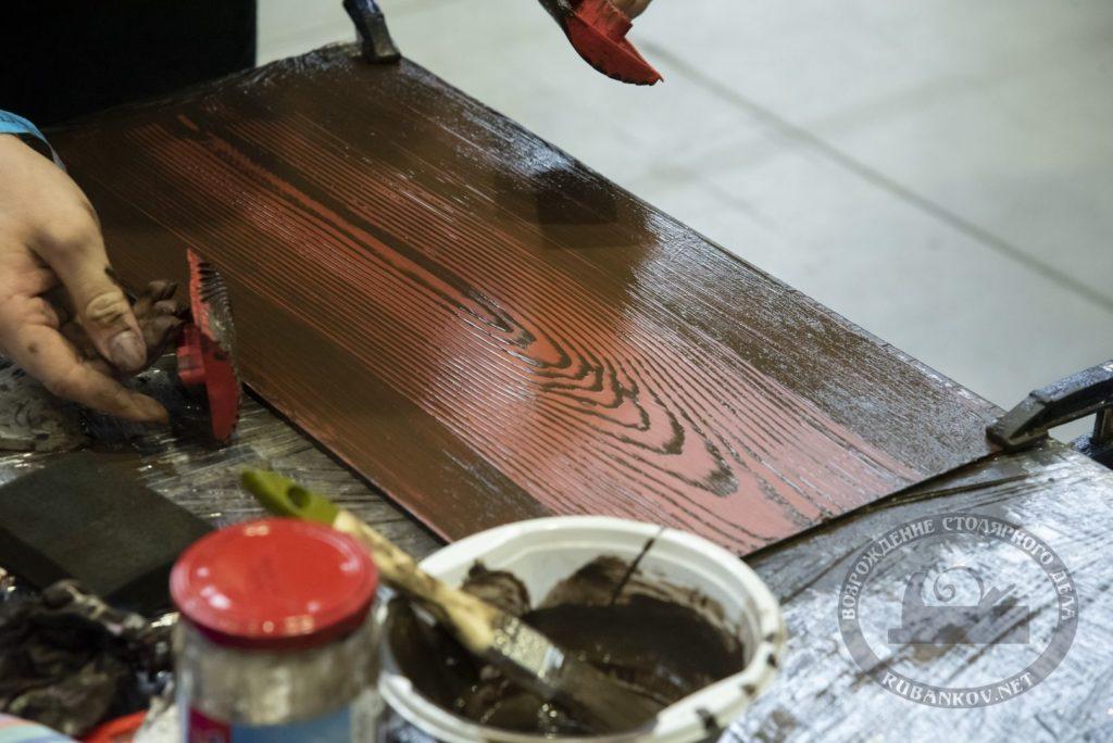Имитация текстуры дерева, реставрационный колледж кировский,ФСД19 в СПб
