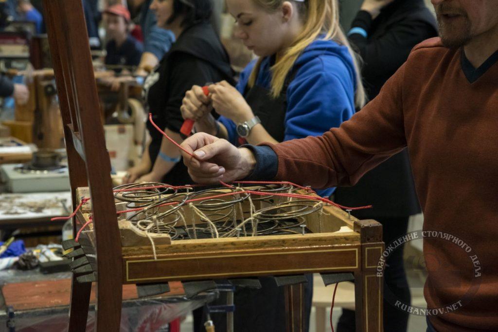 Восстановление сидения на стуле, реставрационный колледж кировский, ФСД19 в СПб