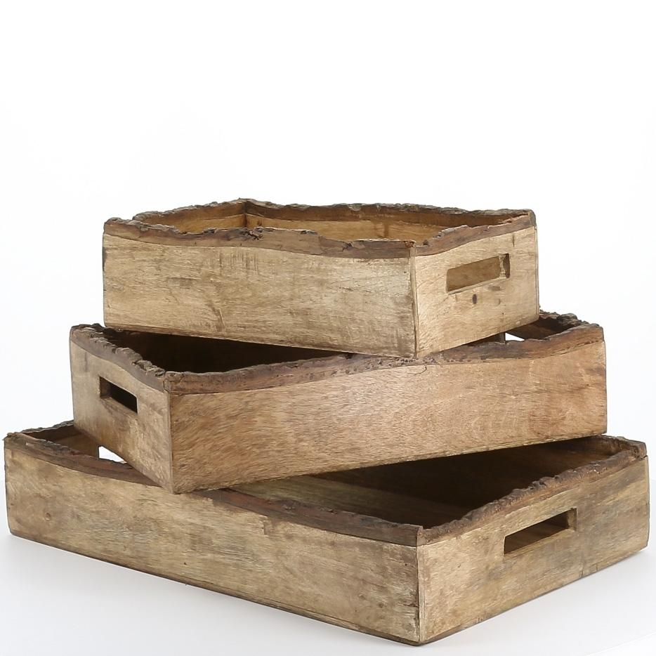 деревянные подносы из доски с обзолом