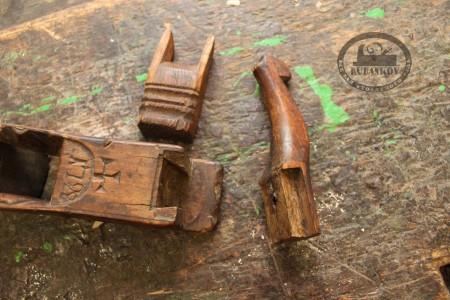 Соединение колодки и переднего рога