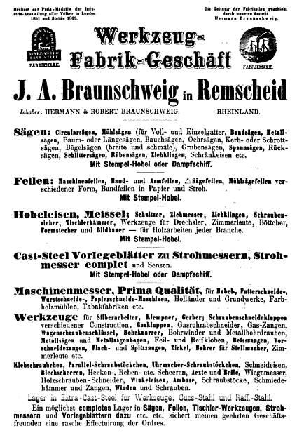 J. A. Braunschweig in Remscheid