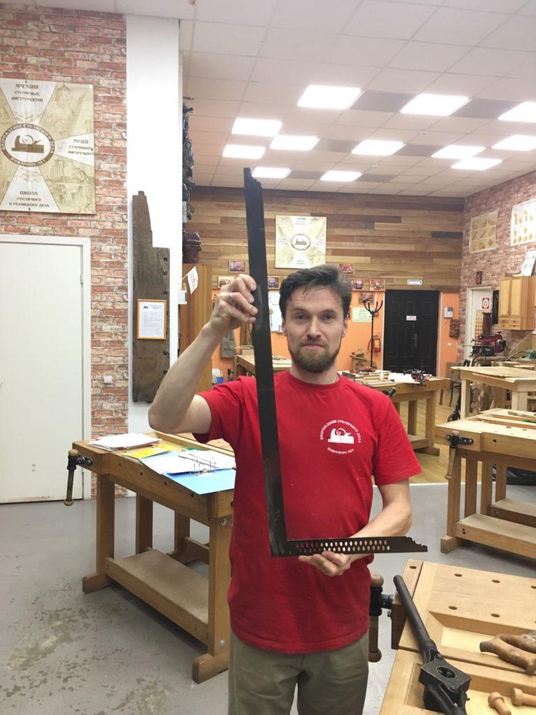 Сергей Клейн и большой плотницкий угольник