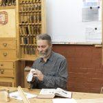 Алексей Юрьевич Дейкин за верстаком мастера