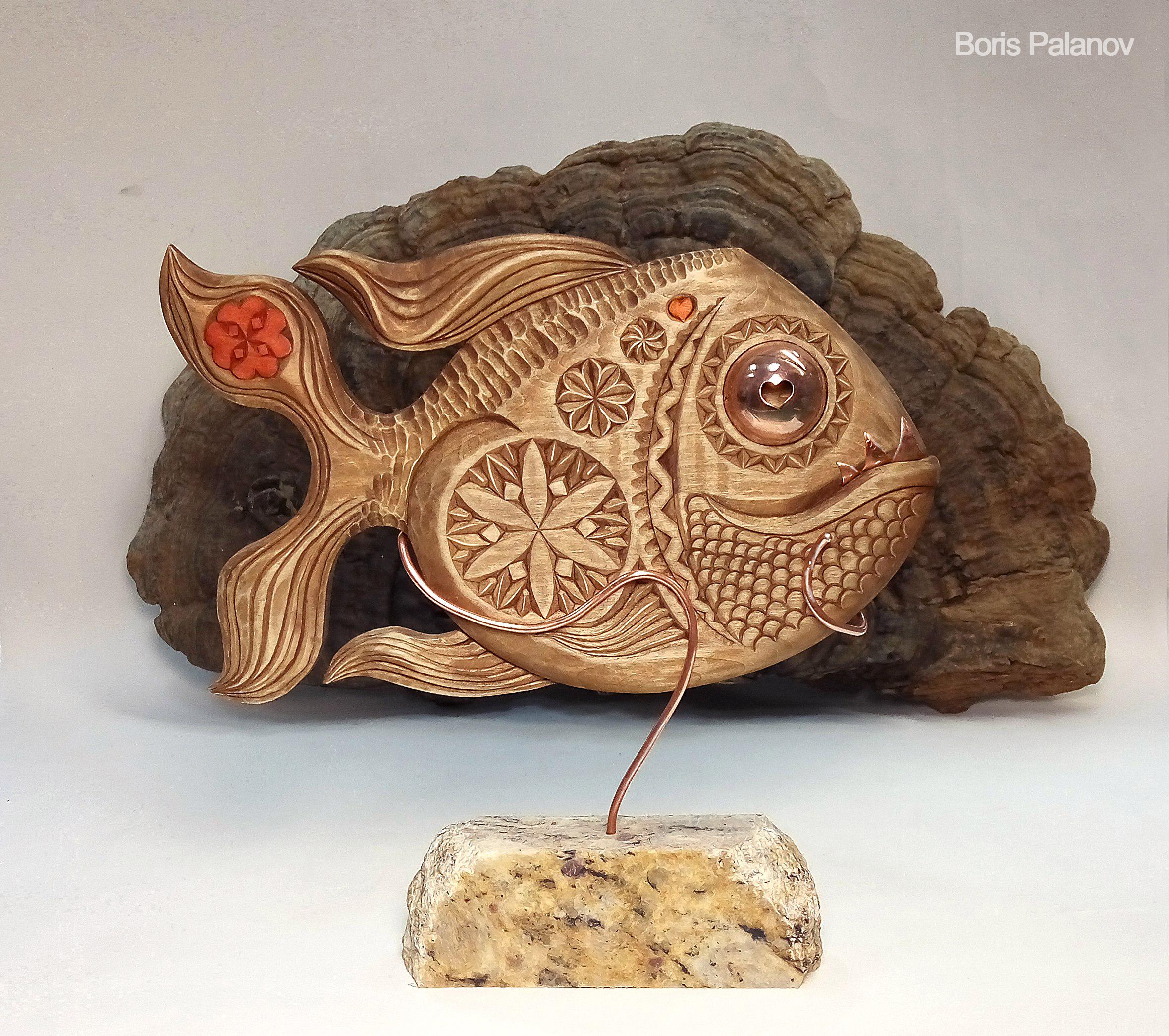 Резная рыбка