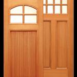 Пример простой двери с филенкой и остеклением