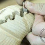 Стомотологическая доводка деревянных зубов стамесками Sorby