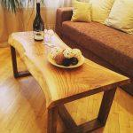 Столик кофейный из слеба Robs WoodShop