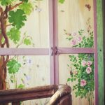 Дверцы шкафа с росписью