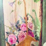 Филенка с художественной росписью по дереву