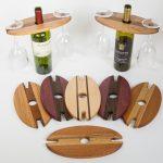 Деревянный держатель бутылок с бокалами (пример)