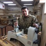 Семен Домаев на курсе токарного мастерства в школе rubankov