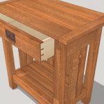 Проект тумбочки в SketchUp