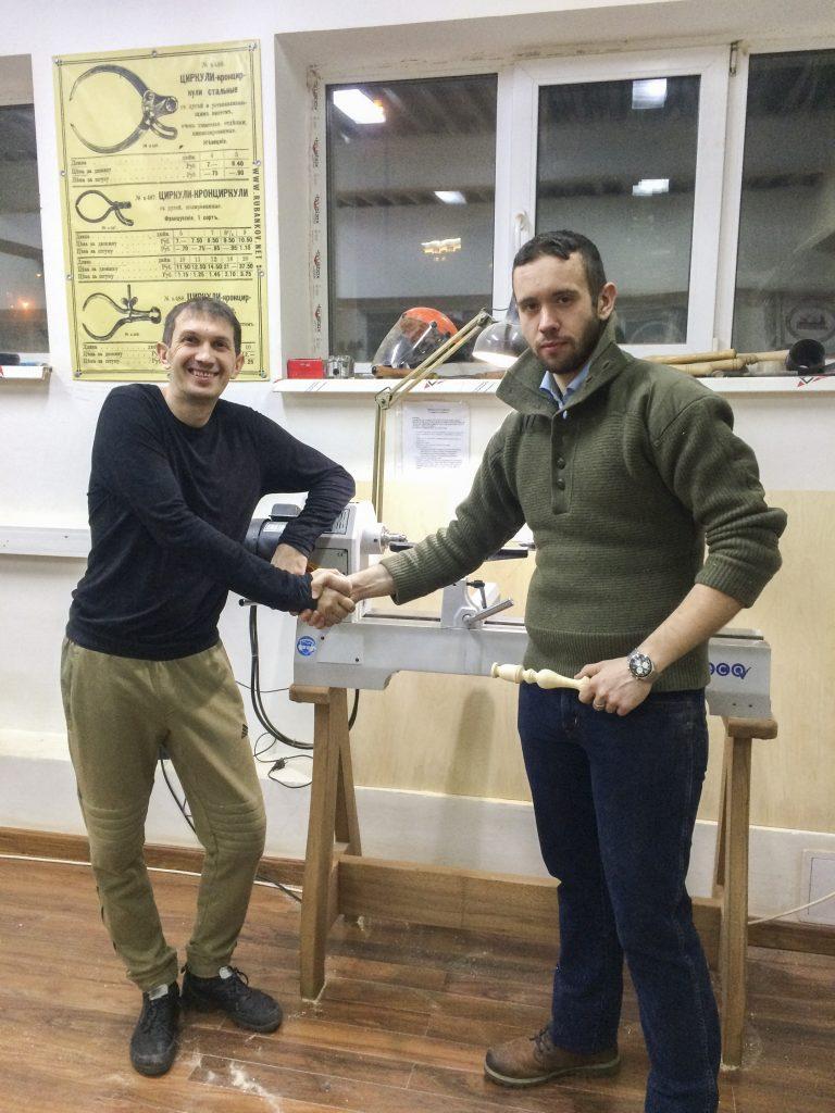 Андрей Громов (слева) и ученик курса