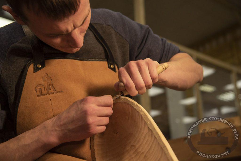 Владимир Сасин, резьба кухонной посуды