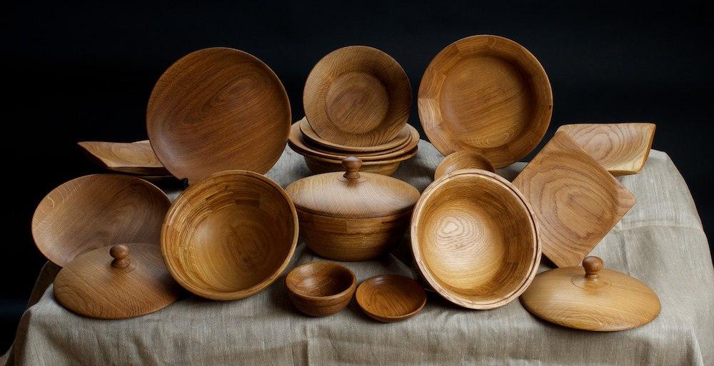 точеные салатницы, тарелки и плошки. Юрий Бажан