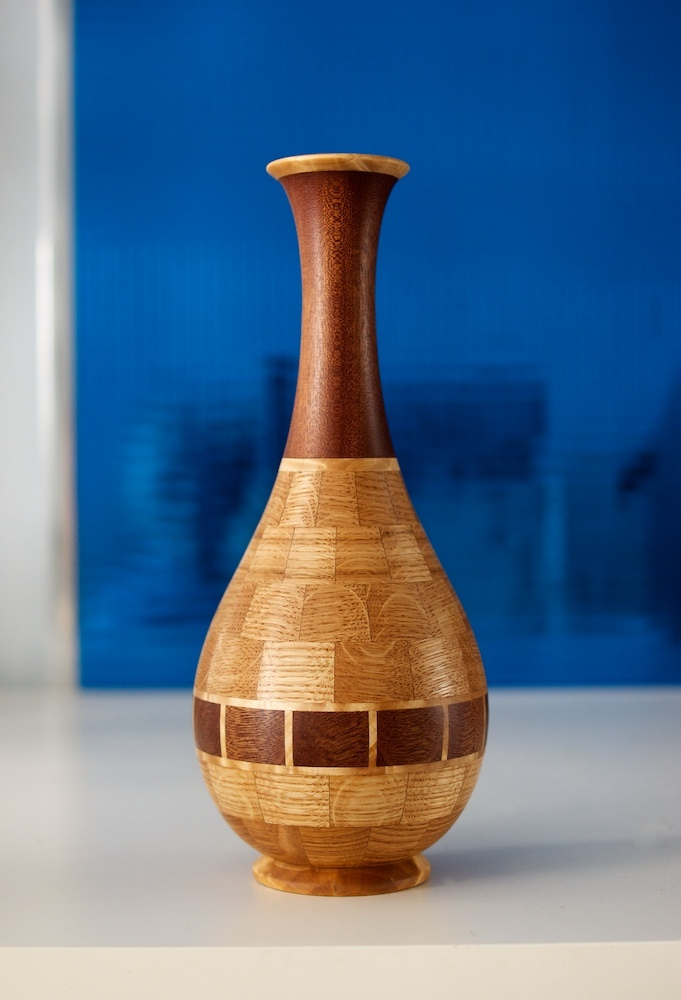 деревянная ваза из сегментов. Юрий Бажан