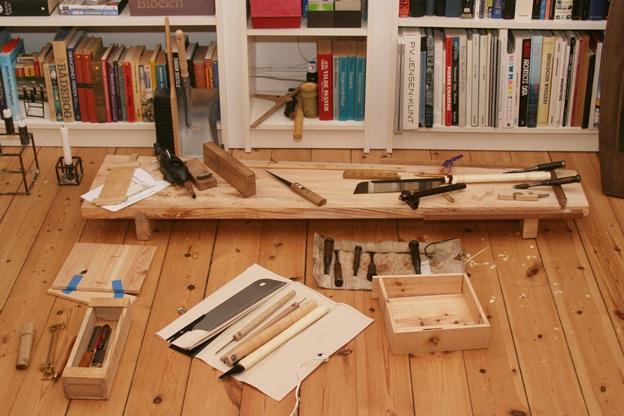 японский верстак и инструменты