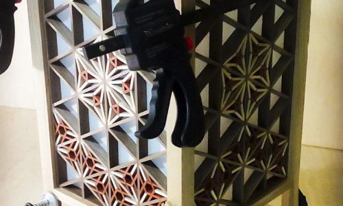 Светильник с решеткой кумико от мастерской Арт Кумико