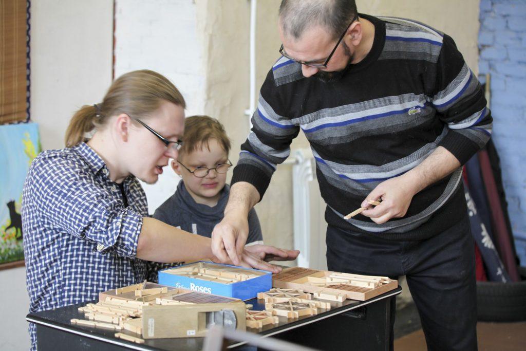 Ринат Камалов и Сергей Сарин, кумико и дети