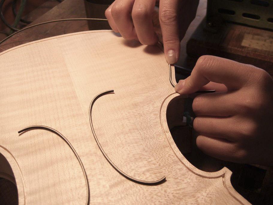 верхняя дэка скрипки