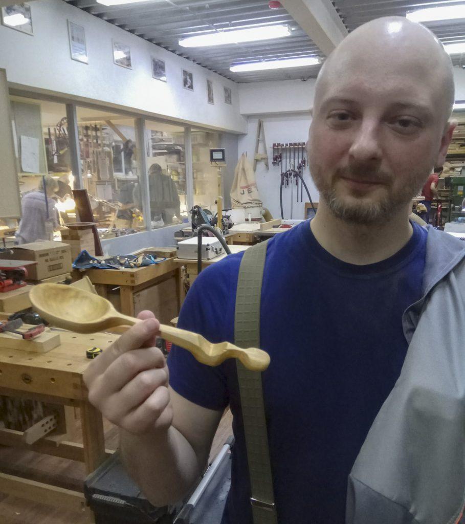 Курс резьба деревянной посуды, весна 2019, Москва