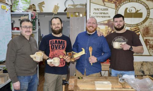мастер-класс по резьбе деревянной посуды, весна 2019, Москва