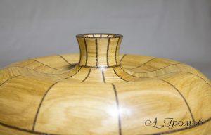 горлышко деревянной вазы из сегментов