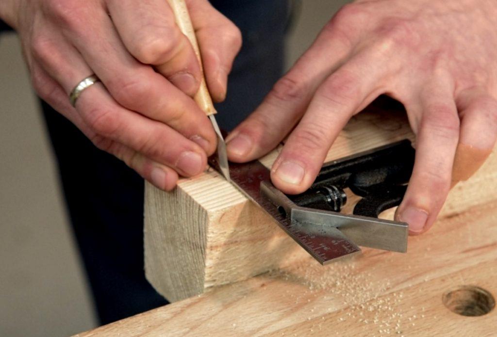 Работа разметочным ножом