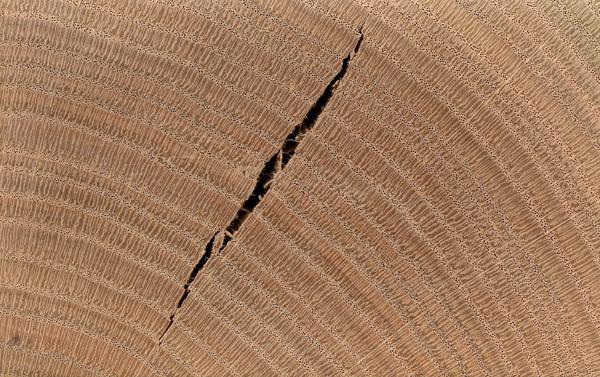 трещина в деревянной заготовке