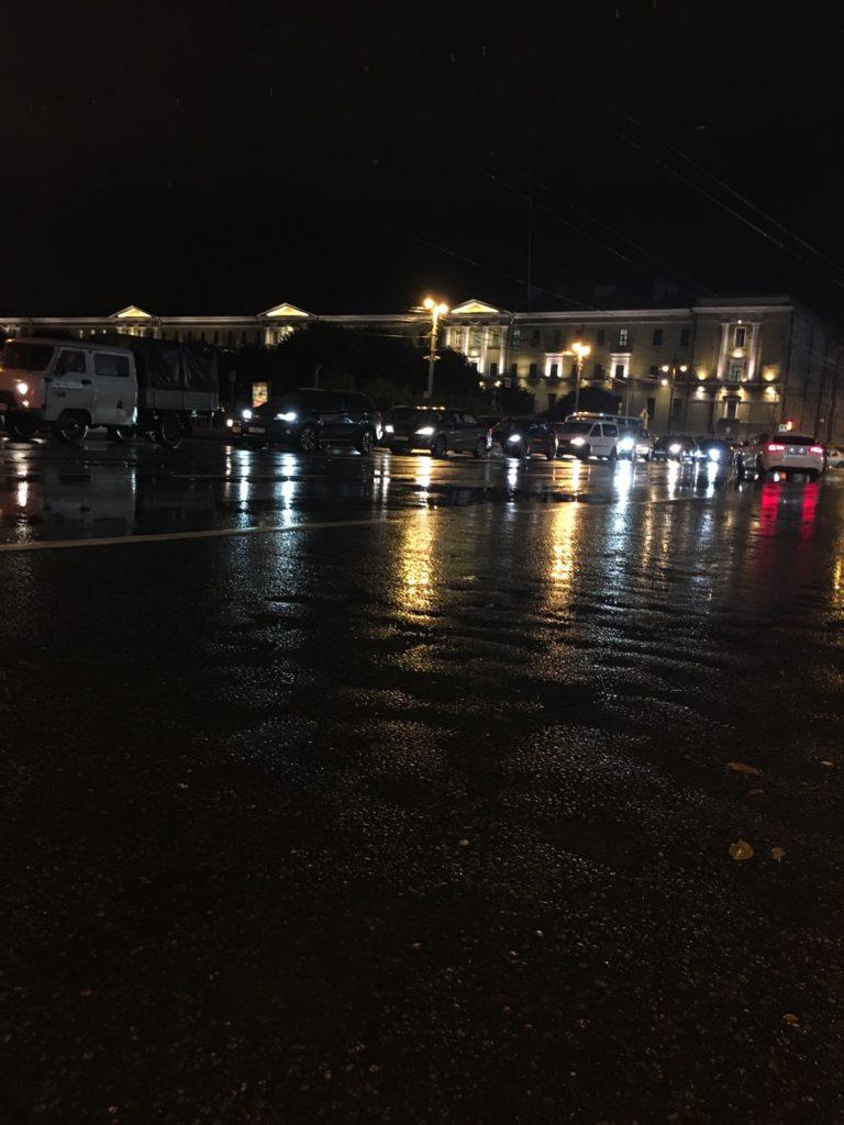 В Питере дождливо и пасмурно