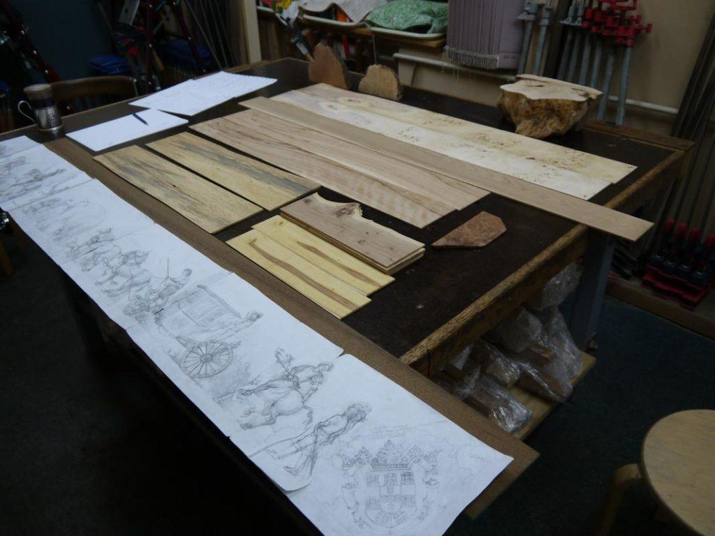 подбор материала к рисунку на стол в стиле эпохи ренесанса (Маргарита, мастерская Дельница)