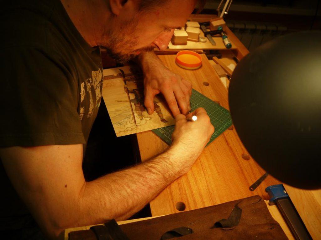 Резаное маркетри (Андрей, мастерская Дельница)