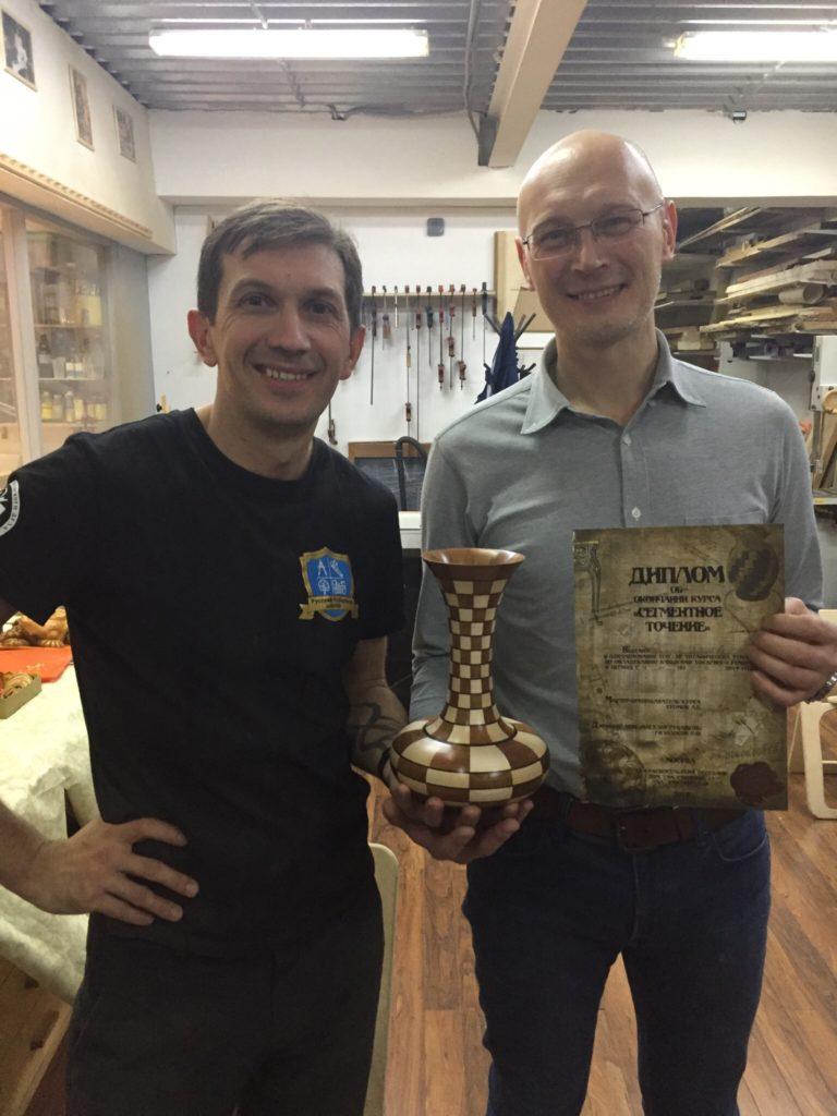 Андрей Громов с учеником
