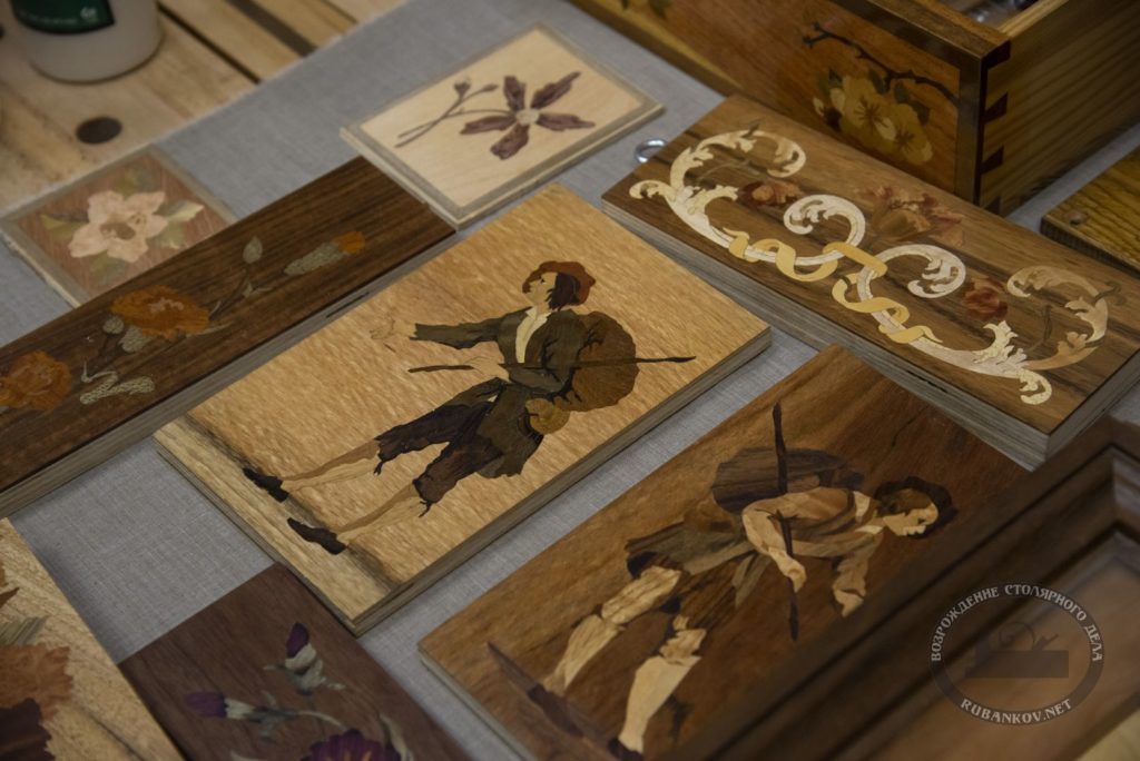 работы художественной мастерской наборного дерева Дельница