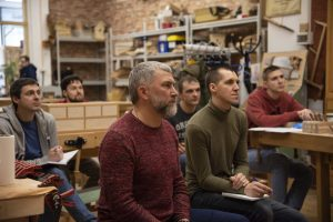 Участники практикума столярного мастерства, весна 2020