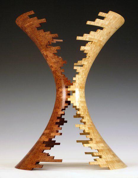 ваза с пустыми сегментами ( автор Bud Latven )